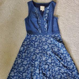 Modcloth denim floral dress